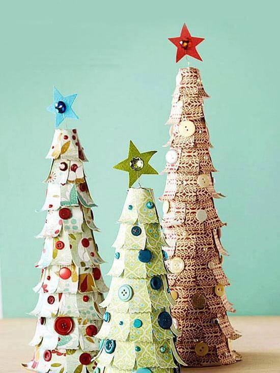Artesanato de Natal arvore artesanal christmas papel