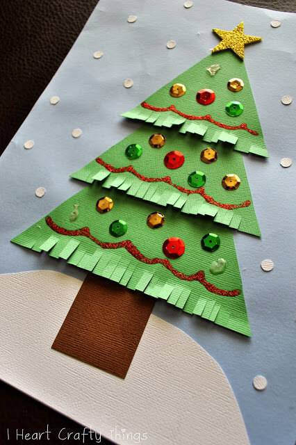 Artesanato de Natal arvore artesanal de papel