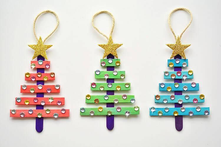 Artesanato de Natal arvore de palito