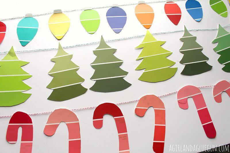 Artesanato de Natal candy-cane-garland