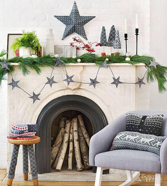 Artesanato de Natal estrelas