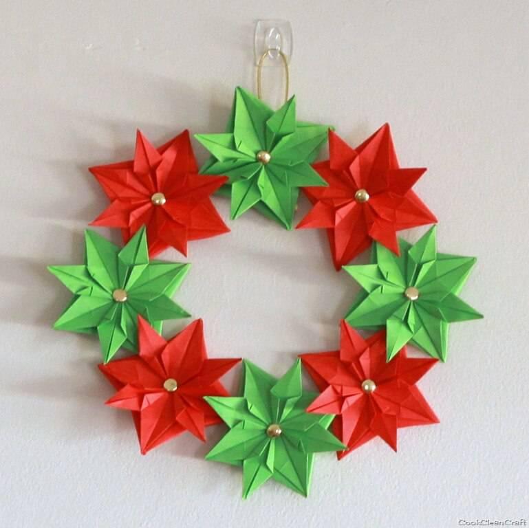 Artesanato de Natal guirlanda Paper Origami