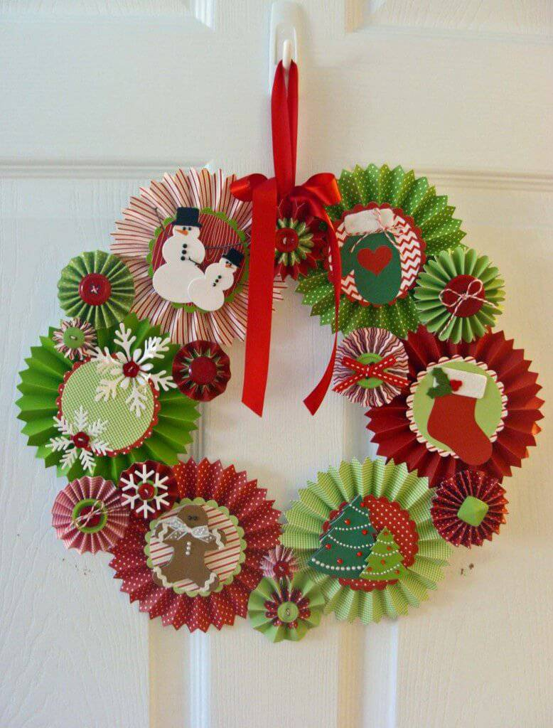 Artesanato de Natal guirlanda Rosette-Wreath