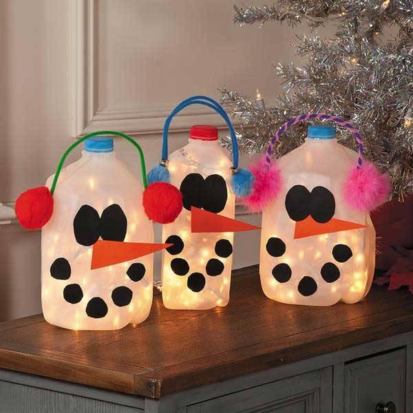 Artesanato de Natal luminaria DIY-Christmas
