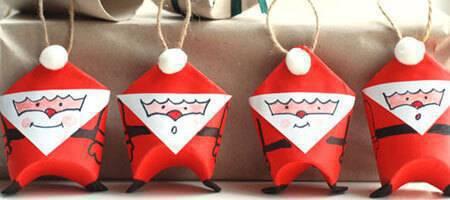 Artesanato de Natal papai noel de papel DIY