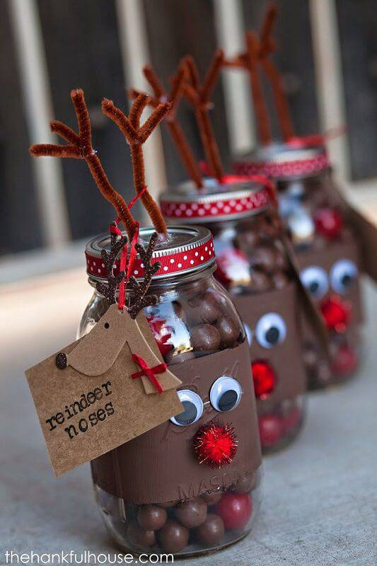 Artesanato de Natal reindeer-craft
