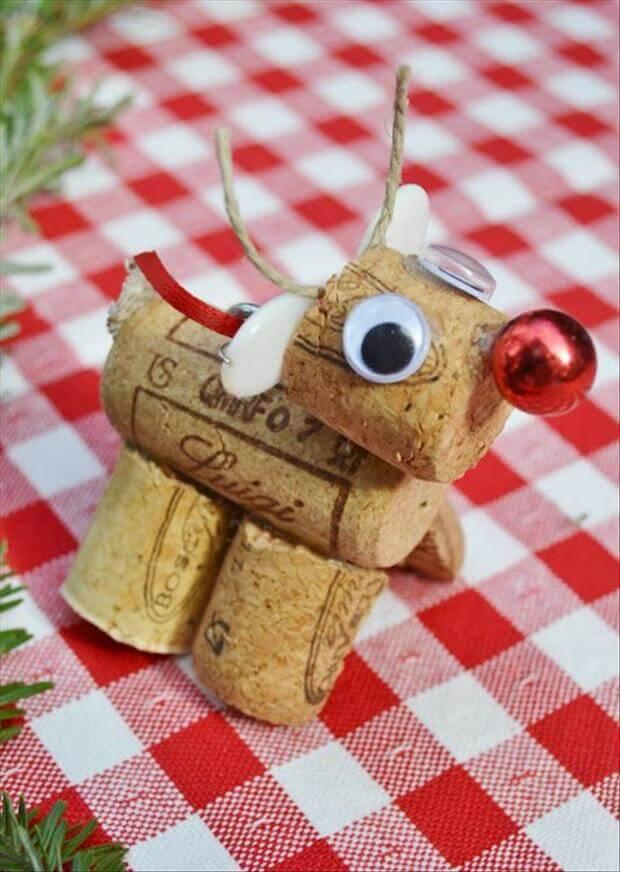 Artesanato de Natal rola christmas-craft