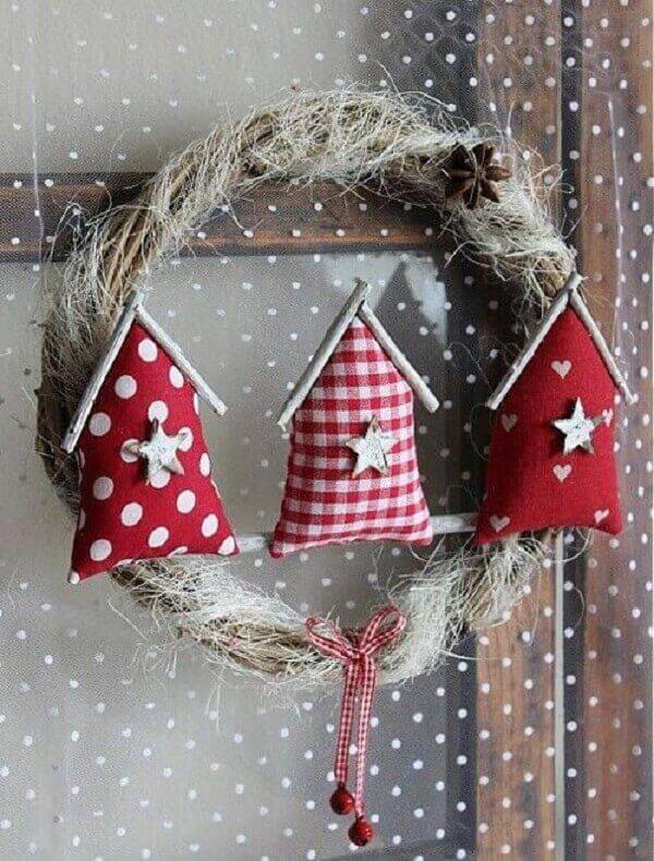 Artesanato de natal guirlanda para porta