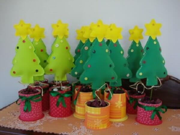 Artesanato de natal pinheiro em EVA