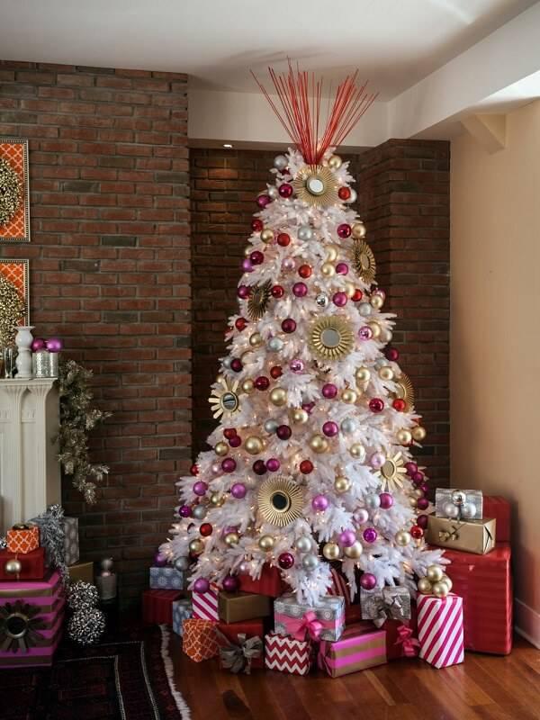 Como Enfeitar Árvore de Natal branca