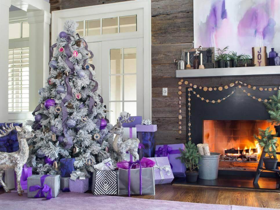 Como Enfeitar Árvore de Natal roxa