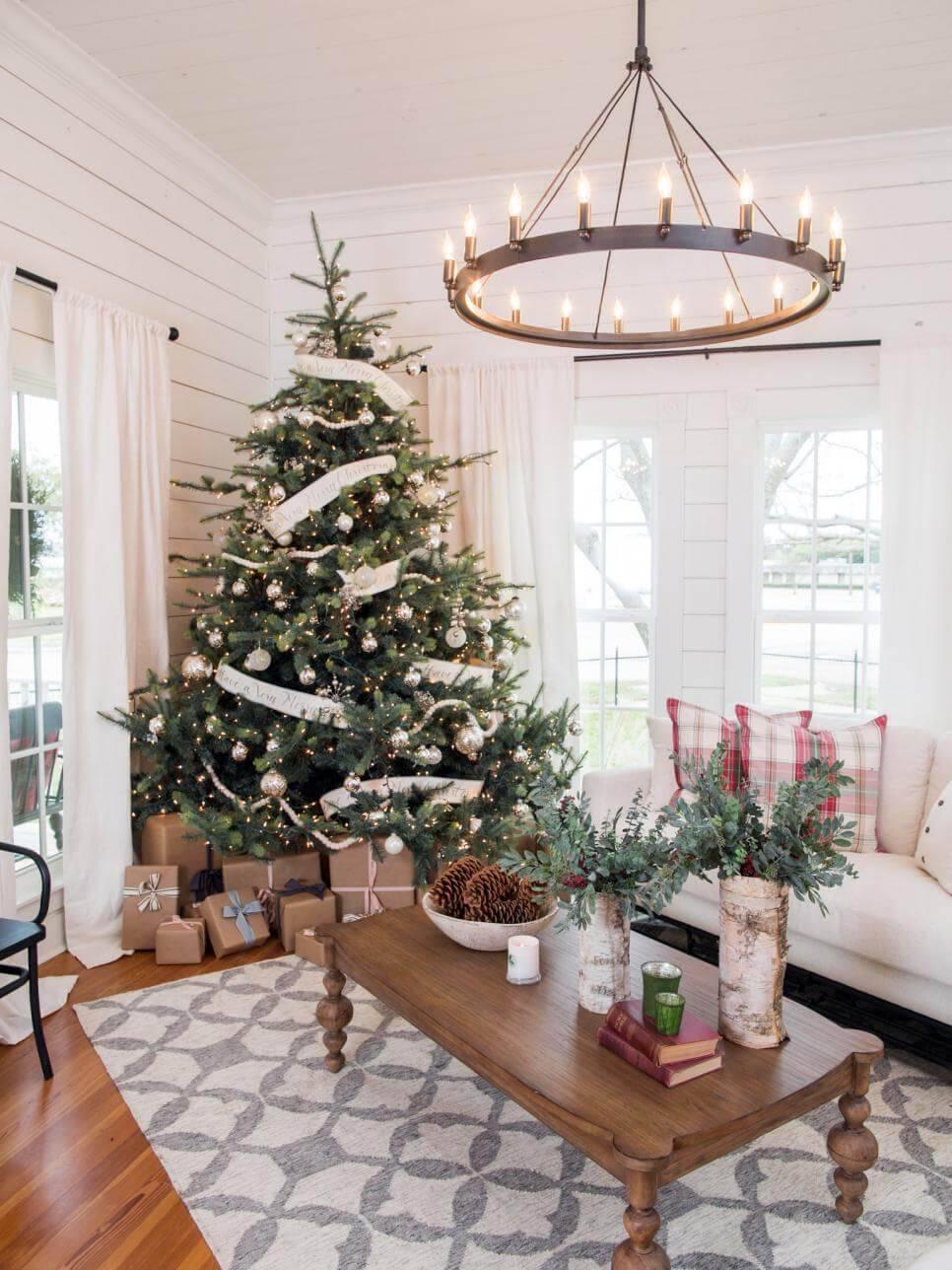 Como Enfeitar Árvore de Natal rustico