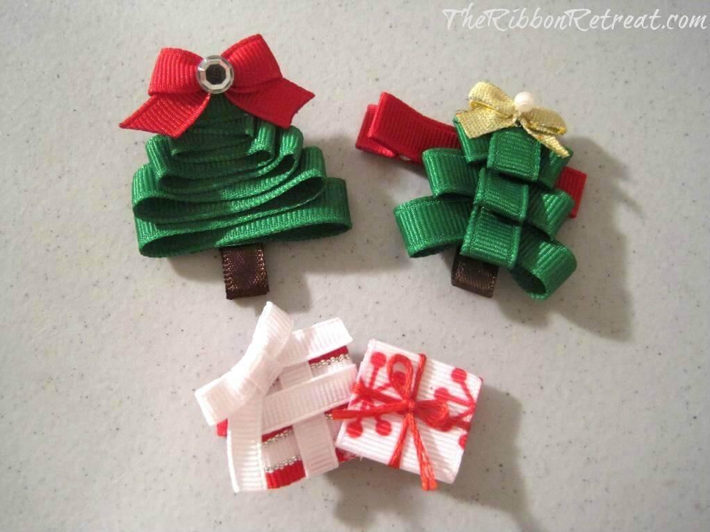 Como Fazer Laço de Natal Christmas-Tree-Ribbon-Sculpture