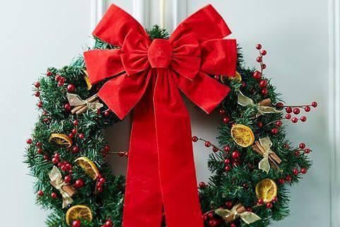 Como Fazer Laço de Natal Christmas-wreath