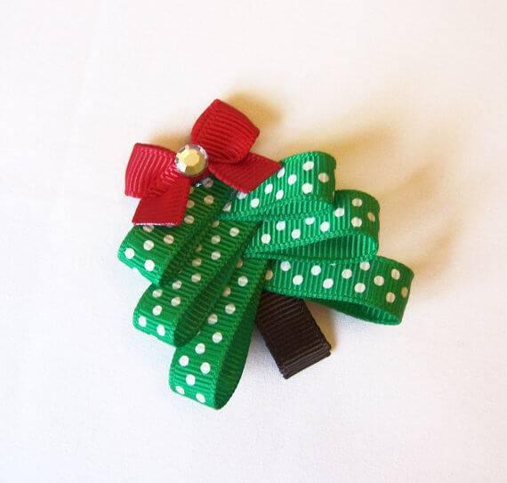 Como Fazer Laço de Natal arvore pequena