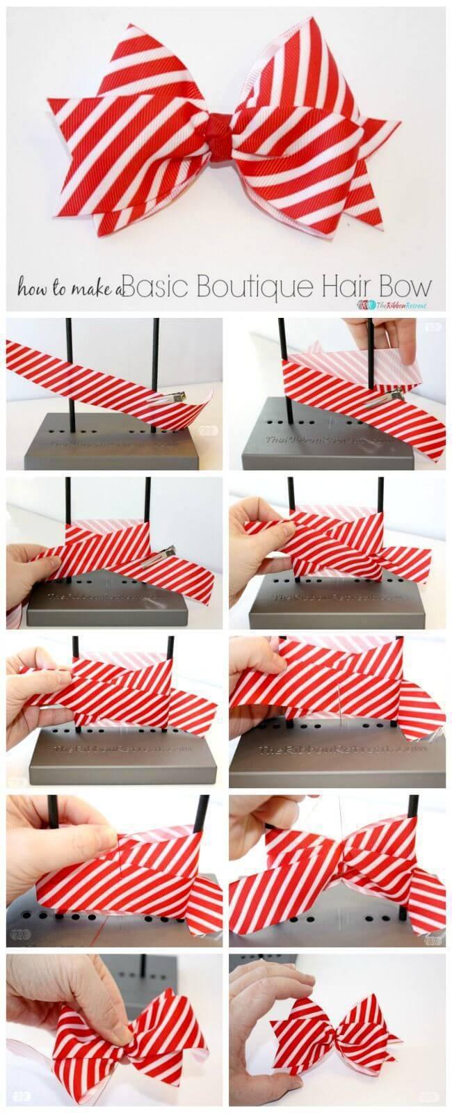 Como Fazer Laço de Natal branco e vermelho ribbon-retreat