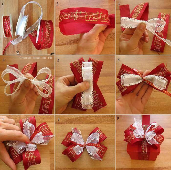 Como Fazer Laço de Natal diy-christmas-present-bows