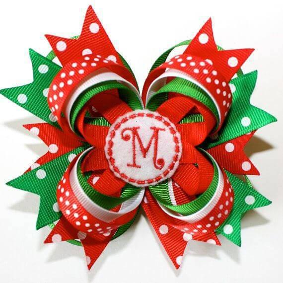 Como Fazer Laço de Natal grande m verde vermelho