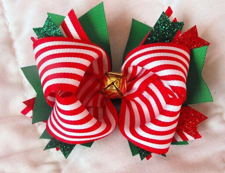 Como Fazer Laço de Natal holiday-hair-bows