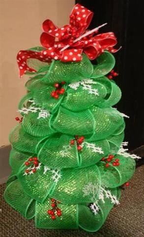 Como Fazer Laço de Natal laços grandes verde