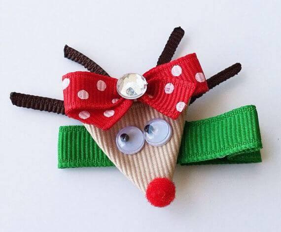 Como Fazer Laço de Natal rena