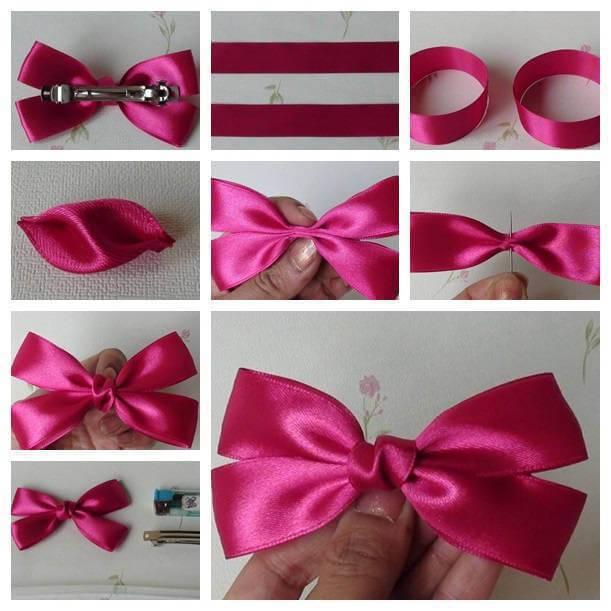 Como Fazer Laço de Natal rosa Ribbon-Bow
