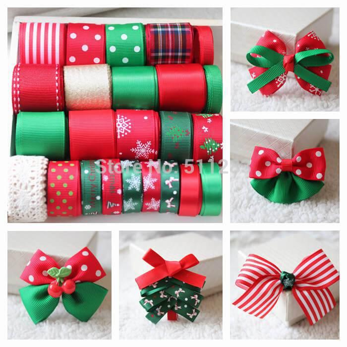 Como Fazer Laço de Natal style-ribbon-set-Christmas