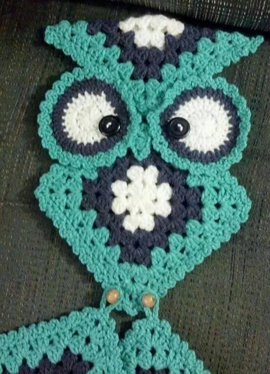 Coruja de Crochê--crochet-owls-pots