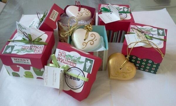 Lembrancinha de natal caixinha de sabonete