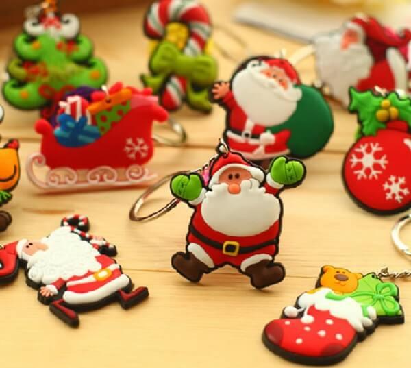 Lembrancinha de natal chaveiro em biscuit