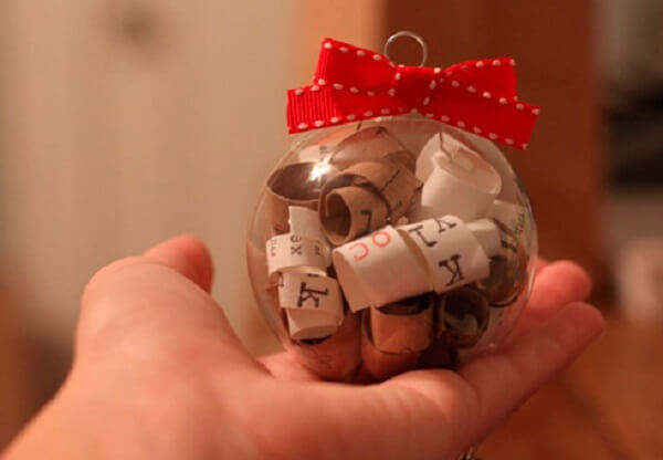 Lembrancinha de natal com mensagem