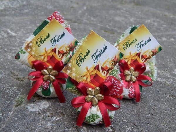 Lembrancinha de natal sachê perfumado