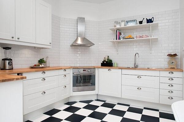 Os piso para cozinha xadrez fazem muito sucesso no mercado