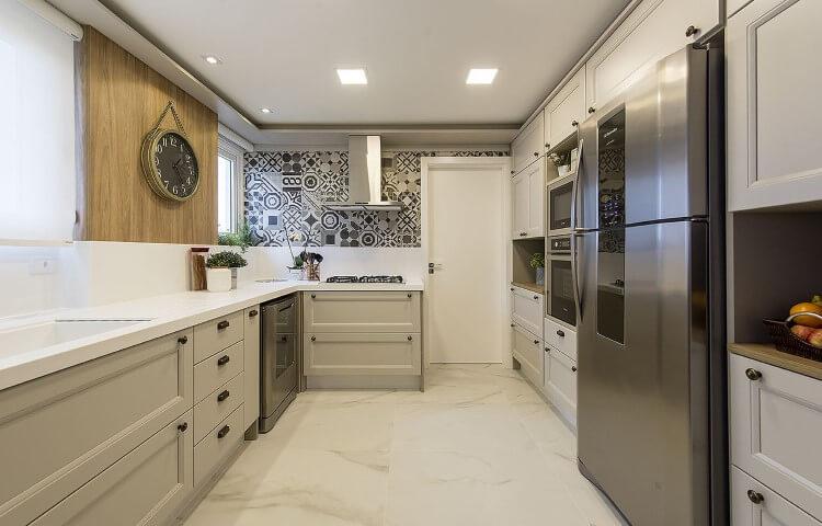 Pisos para cozinhas de mármore Projeto de Espaço do Traço