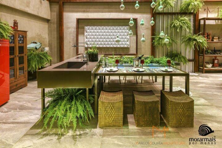 Pisos para cozinhas de pedras Projeto Marcos Gouvea Arquitetura