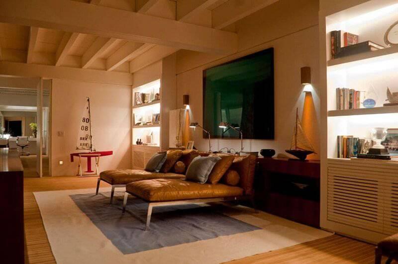 Sala de descanso com luminarias para sala - projeto Toninho Noronha