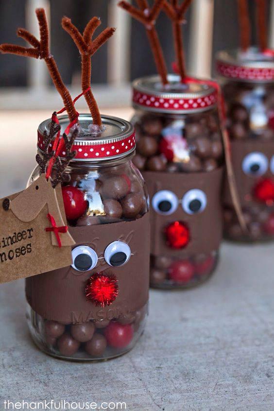 bolinhas de chocolate de lembrancinha de natal