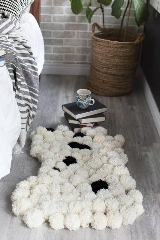 como fazer tapete de pompom -DIY-Pom-Pom-Rug