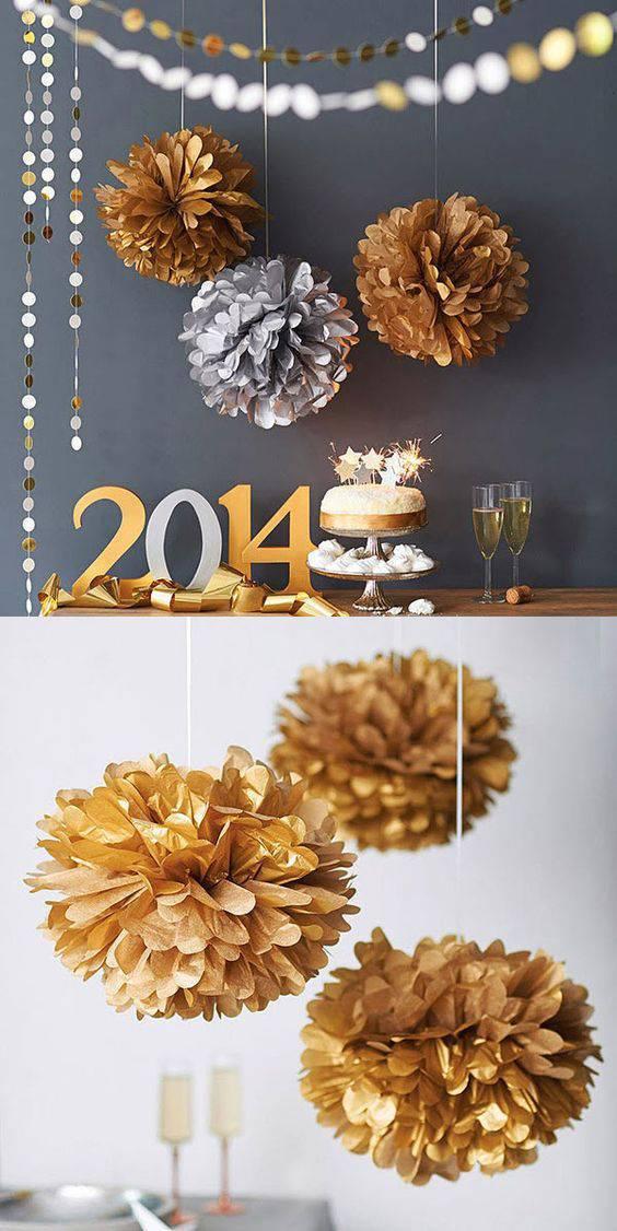 decoração de ano novo bolas de papel