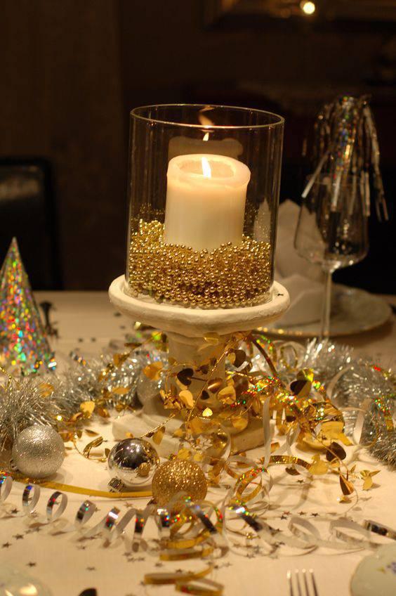 decoração de ano novo detalhe