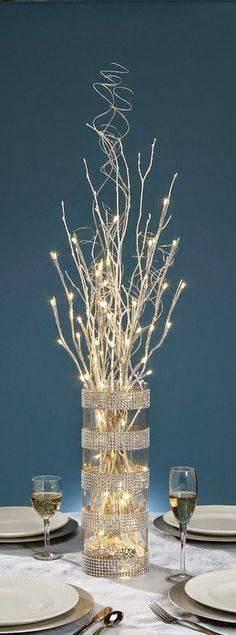 decoração de ano novo enfeite de mesa
