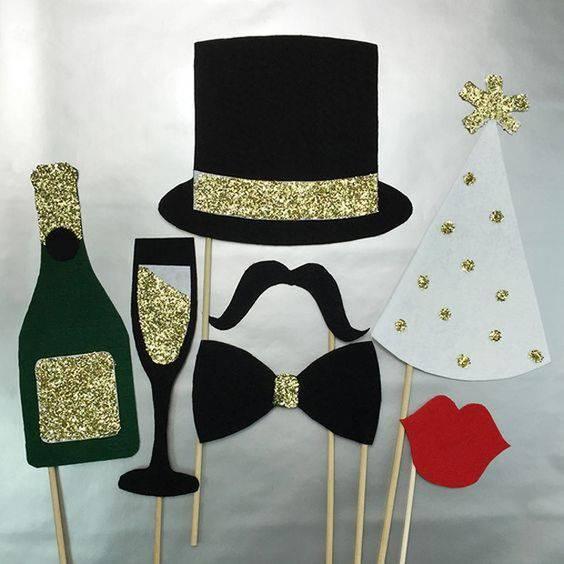 decoração de ano novo mascaras divertidas
