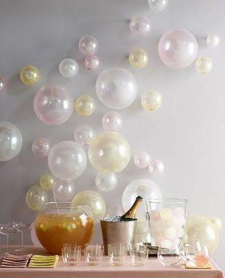 decoração de ano novo mesa bexigas