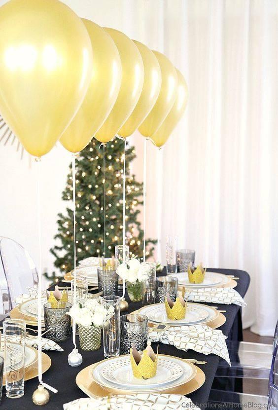 decoracao de ano novo mesa de jantar