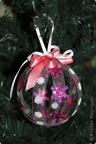 enfeite de natal reciclado bola de natal plástica