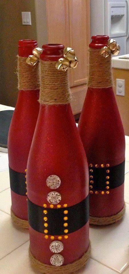 enfeite de natal reciclado garrafas de papai noel