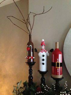 enfeite de natal reciclado garrafas decoradas
