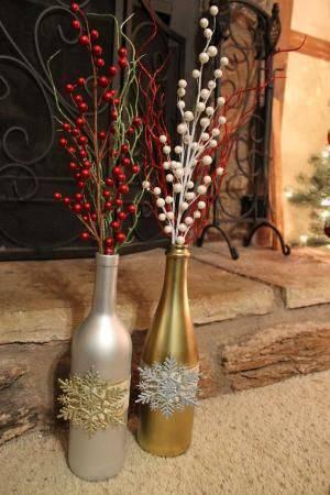 enfeite de natal reciclado garrafas pintadas