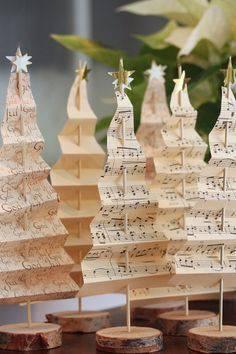 enfeite de natal reciclado partituras