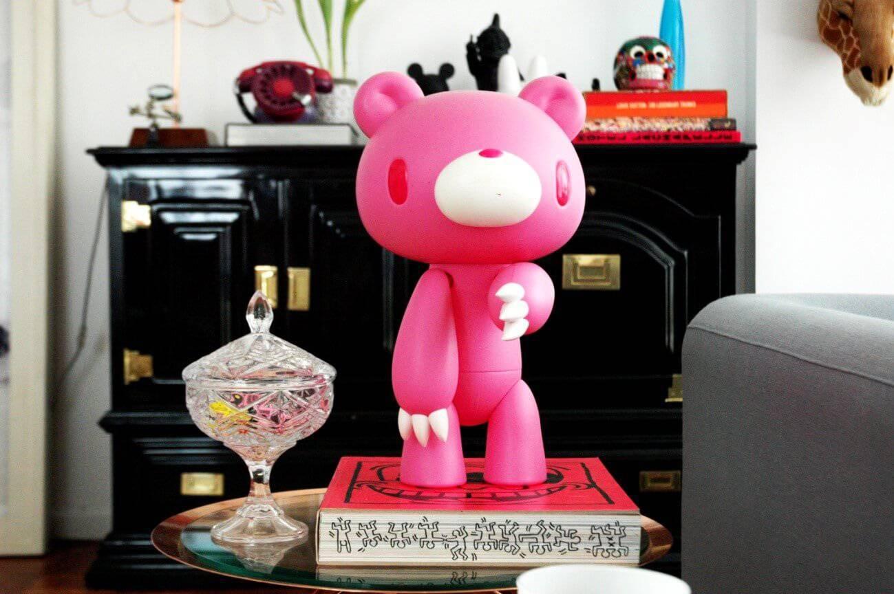 enfeite de urso rosa